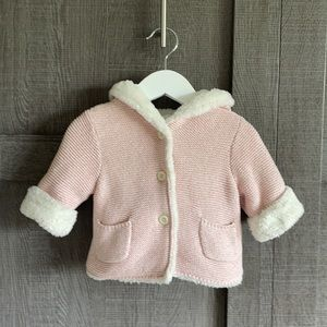 2/$40⭐️Gap faux-fur hoodie sweater jacket